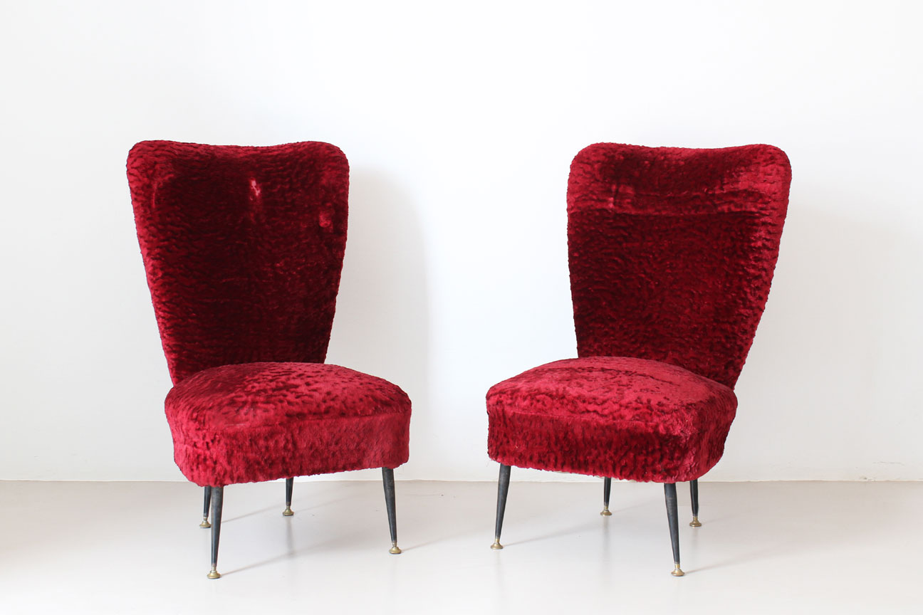 VLab-poltrone-vintage-velluto-rosso-front